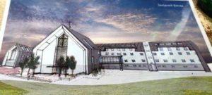 Artist depiction of St John Paul II Center